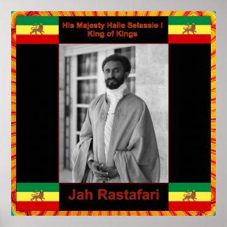 Haile Selassie, Jah Rastafari Print on Canvas
