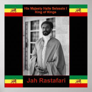Haile Selassie, Jah Rastafari Print on Canvas 36 b