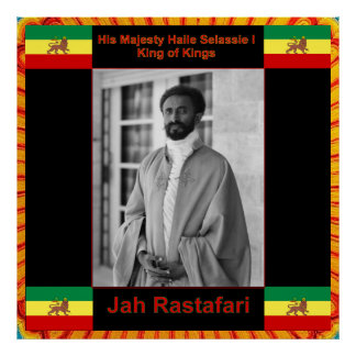 Haile Selassie, Jah Rastafari Print on Canvas