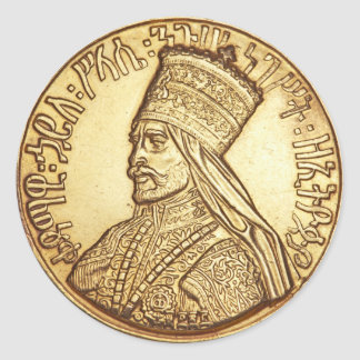 Haile Selassie King OF Ethiopia Rastafari Sticker