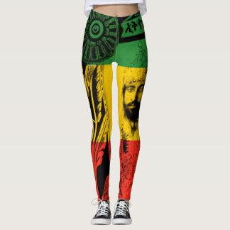 Haile Selassie Leggings Lion of Judah Design