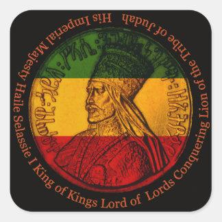 Haile Selassie Square Sticker