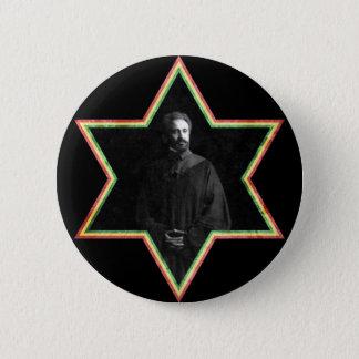 Haile Selassie Star of David 2 Inch Round Button