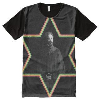 Haile Selassie Star of David All-Over-Print T-Shirt