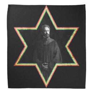 Haile Selassie Star of David Bandana