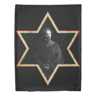 Haile Selassie Star of David Duvet Cover