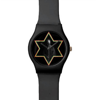Haile Selassie Star of David Wristwatch