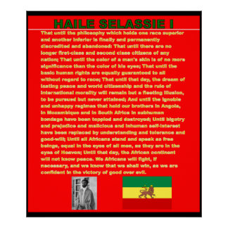 Haile Selassie War Speech to UN Canvas Poster