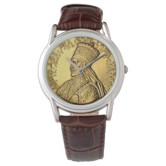 Haile Selassie Watch Ancient Golden King Design