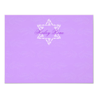 Hailey Bat Mitzvah Invitation Damask Thank You