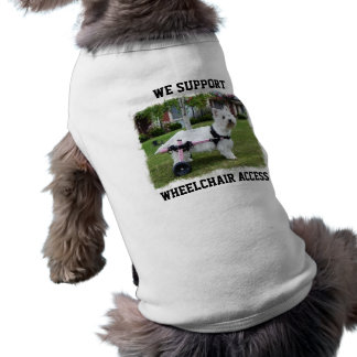 Hailey Westie Wheelchair access Shirt