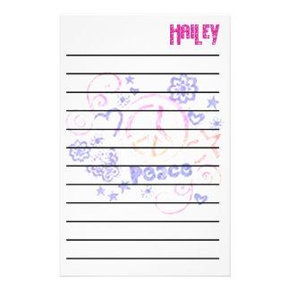 Hailey's Peace Stationary Stationery