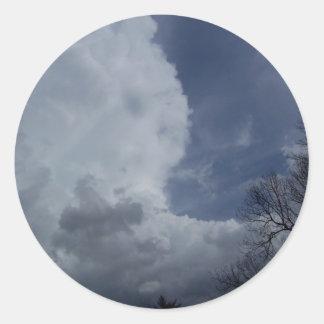 Hailmaker Cumulonimbus Cloud Classic Round Sticker
