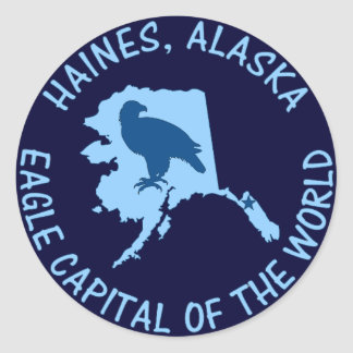 Haines, Alaska Eagle Capital of the World Round Sticker