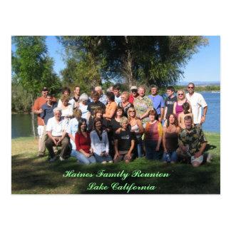 Haines Family Reunion    Lake California Postcard