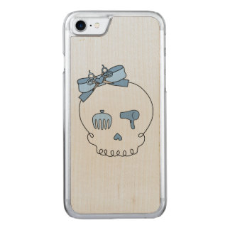 Hair Accessory Skull (Bow Detail Blue #2) Carved iPhone 7 Case