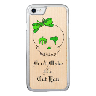 Hair Accessory Skull (Bow Detail Lime Green #3) Carved iPhone 7 Case