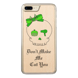 Hair Accessory Skull (Bow Detail Lime Green #3) Carved iPhone 8 Plus/7 Plus Case