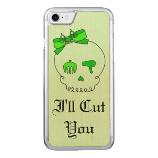 Hair Accessory Skull (Bow Detail Lime Green #6) Carved iPhone 7 Case