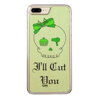 Hair Accessory Skull (Bow Detail Lime Green #6) Carved iPhone 7 Plus Case