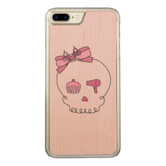 Hair Accessory Skull (Bow Detail Pink #2) Carved iPhone 7 Plus Case