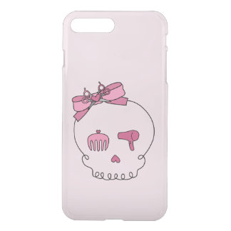 Hair Accessory Skull (Bow Detail Pink #2) iPhone 7 Plus Case