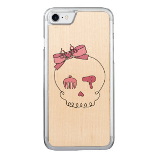 Hair Accessory Skull (Bow Detail Pink) Carved iPhone 7 Case