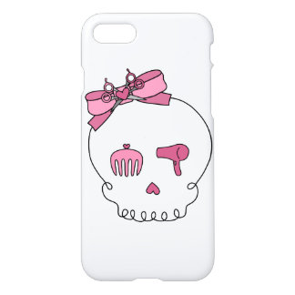 Hair Accessory Skull (Bow Detail Pink) iPhone 7 Case