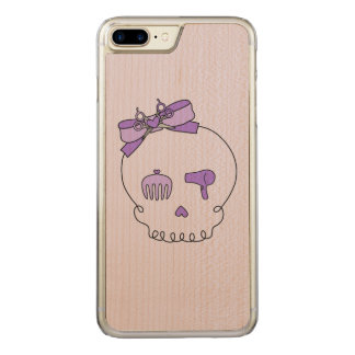 Hair Accessory Skull (Bow Detail Purple #2) Carved iPhone 7 Plus Case
