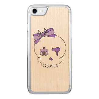 Hair Accessory Skull (Bow Detail Purple) Carved iPhone 7 Case
