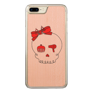 Hair Accessory Skull (Bow Detail Red #2) Carved iPhone 7 Plus Case