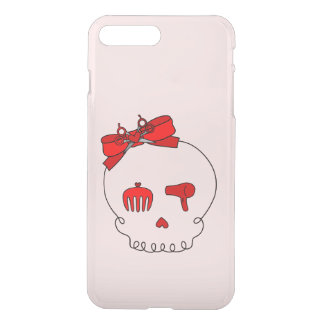 Hair Accessory Skull (Bow Detail Red #2) iPhone 7 Plus Case