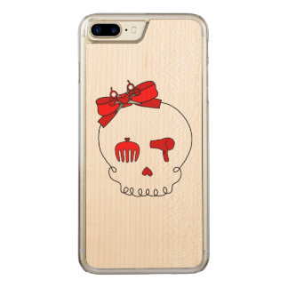 Hair Accessory Skull (Bow Detail Red) Carved iPhone 7 Plus Case