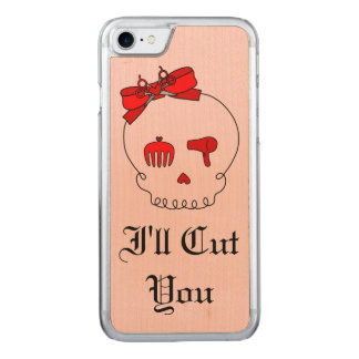Hair Accessory Skull (Bow Detail Red w/ Text 4) Carved iPhone 7 Case