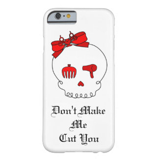 Hair Accessory Skull (Bow Detail Red w/ Text) Barely There iPhone 6 Case