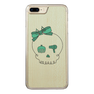 Hair Accessory Skull (Bow Detail Turquoise #2) Carved iPhone 7 Plus Case