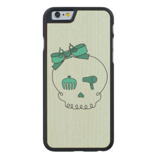 Hair Accessory Skull (Bow Detail Turquoise #2) Carved® Maple iPhone 6 Case