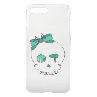 Hair Accessory Skull (Bow Detail Turquoise) iPhone 7 Plus Case