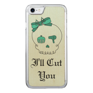 Hair Accessory Skull (Bow Detail Turquoise Text 4) Carved iPhone 7 Case