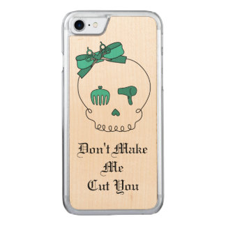Hair Accessory Skull (Bow Detail Turquoise & Text) Carved iPhone 7 Case