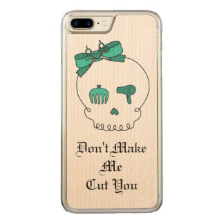 Hair Accessory Skull (Bow Detail Turquoise & Text) Carved iPhone 7 Plus Case