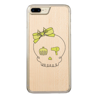 Hair Accessory Skull (Bow Detail Yellow) Carved iPhone 7 Plus Case