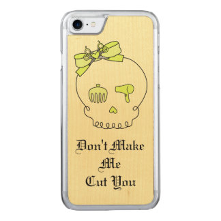 Hair Accessory Skull (Bow Detail Yellow w/ Text 2) Carved iPhone 7 Case