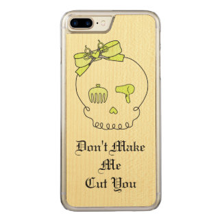 Hair Accessory Skull (Bow Detail Yellow w/ Text 2) Carved iPhone 7 Plus Case