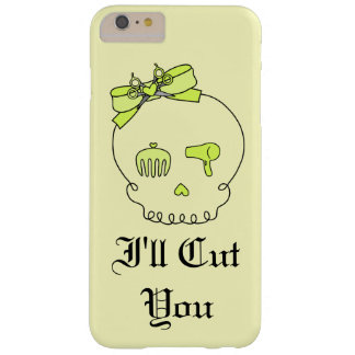 Hair Accessory Skull (Bow Detail Yellow w/ Text 4) Barely There iPhone 6 Plus Case