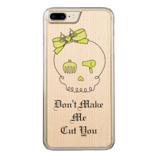 Hair Accessory Skull (Bow Detail Yellow w/ Text) Carved iPhone 7 Plus Case
