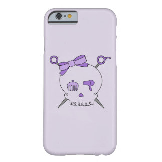 Hair Accessory Skull & Scissors (Purple Version 2) Barely There iPhone 6 Case