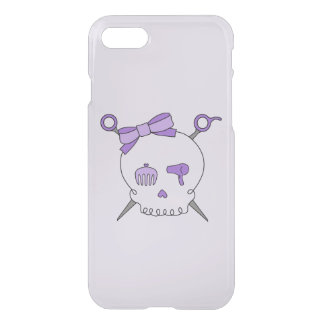Hair Accessory Skull & Scissors (Purple Version 2) iPhone 7 Case