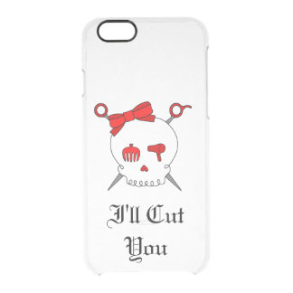 Hair Accessory Skull & Scissors (Red Version 5) Clear iPhone 6/6S Case