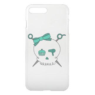 Hair Accessory Skull & Scissors (Turquoise) iPhone 7 Plus Case